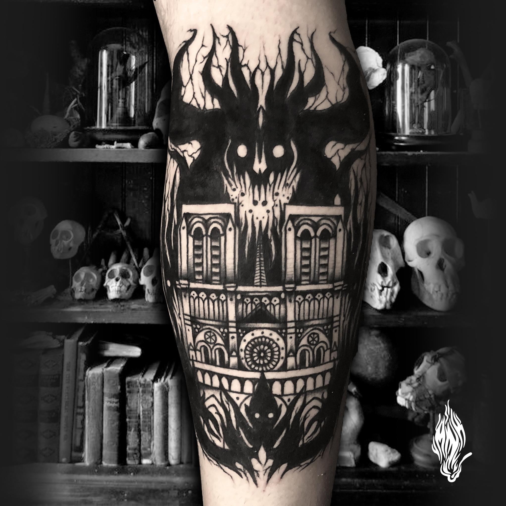 Mink Bell • Notre Dame Tattoo