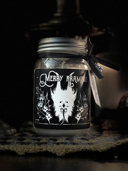 Merry Krampus Candle Jar